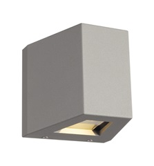 OUT BEAM QT-DE12 Outdoor Wall luminaire, Beam/Flood , srebrno siva, max. 80W, IP44