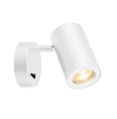 ENOLA_B Wall luminaire, QPAR51, with switch, bela, max. 50W