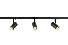 1Ph NOBLO SPOT SET 2700K black, including three spotlights, two 1m racks, one feed-in and one long connector