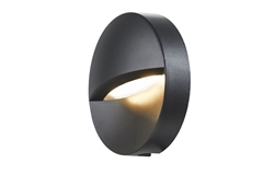 DOWNUNDER OUT, round WL Outdoor LED recessed wall light, anthracite, 3000K