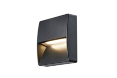 DOWNUNDER OUT, square WL Outdoor LED recessed wall light, anthracite, 3000K