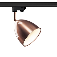 3~ PARA CONE 14 QPAR51, 3-circuit system luminaire, copper/white, incl. 3-circuit adapter
