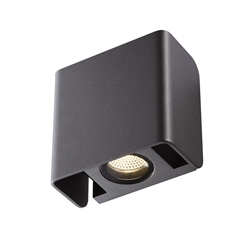 MANA OUT, Outdoor recessed wall light, anthracite, 3000K, IP65, dimmable