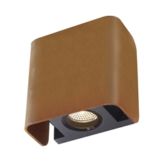 MANA OUT, Outdoor recessed wall light, rust, 3000K, IP65, dimmable