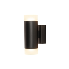 ASTINA UP/DOWN QPAR51, Indoor surface-mounted wall light, black