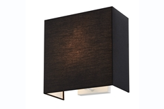 ACCANTO SQUARE E27, Indoor surface-mounted wall light black