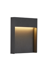 FLATT, Outdoor LED surface-mounted wall light, 3000K, IP65, anthracite