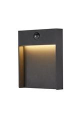 FLATT SENSOR, Outdoor LED surface-mounted wall light, 3000K, IP65, anthracite