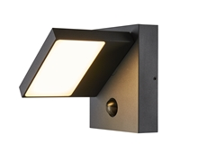 ABRIDOR SENSOR, Outdoor LED surface-mounted wall light IP55 anthracite 3000/4000K