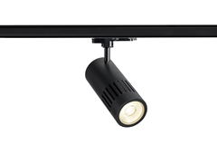 3~ STRUCTEC DALI 3-circuit system luminaire black 4000K 36° incl. 3-circuit adapter