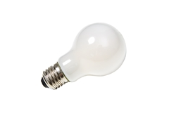 LED lamp, A60, E27, 2700K, 810lm, 270°, dimmable, frosted glass