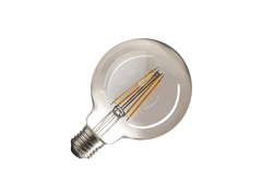 LED lamp, G95, E27, 2700K, 380lm, 280°, dimmable, smoked glass