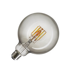 LED lamp G125, E27, 2000-29000K, 280°, dimmable, smoked glass