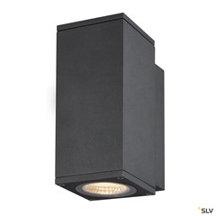 ENOLA SQUARE S single outdoor LED surface-mounted wall light anthracite CCT 3000/4000K