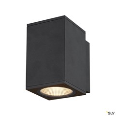 ENOLA SQUARE M single outdoor LED surface-mounted wall light anthracite CCT 3000/4000K