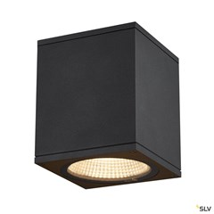 ENOLA SQUARE M outdoor LED surface-mounted ceiling light anthracite CCT 3000/4000K