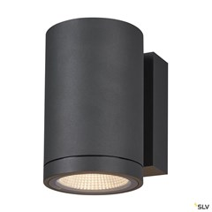 ENOLA ROUND M single outdoor LED surface-mounted wall light anthracite CCT 3000/4000K