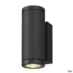 ENOLA ROUND UP/DOWN S outdoor LED surface-mounted wall light anthracite CCT 3000/4000K