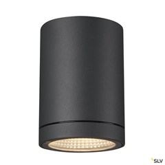 ENOLA ROUND S outdoor LED surface-mounted ceiling light anthracite CCT 3000/4000K