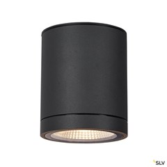 ENOLA ROUND M outdoor LED surface-mounted ceiling light anthracite CCT 3000/4000K