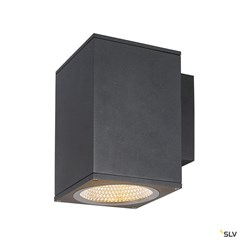 ENOLA SQUARE L single outdoor LED surface-mounted wall light anthracite CCT 3000/4000K