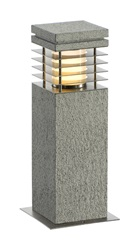 ARROCK GRANITE 40 bollardlight, granite, salt & pepper,E27, max. 15W, IP44