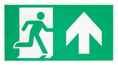 P-LIGHT Emergency stair sign,big, zelena