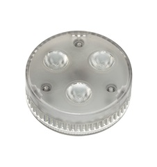GX53 LED lamp, 3x 1.4W, 3000KLED, 35° beam angle