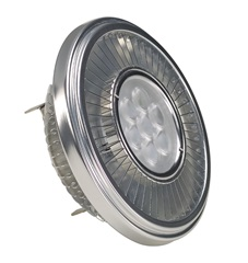 LED QRB111 lamp, srebrna-siva,19.5W, 30°, 2700K, dimmable