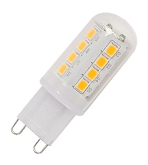 G9 LED lamp, 2.3W, 2700K,Multidot