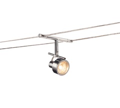 SaluminijumNA, cable luminaire for TENSEO low-voltage cable system, QR-C51, hrom