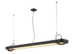AIXLIGHT R2 OFFICE LED LONG,visilica, crna, LED +2xQPAR111, max. 75W, 153cm