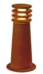 rđaY 40 bollard light, rđaediron, E27 Energy Saver, max.11W, IP55