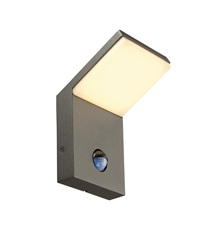 ORDI LED zidna svetiljka,antracit, SMD LED, 3000K,IP44, with motion senzor