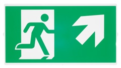 P-LIGHT Emergency stair sign,small, zelena