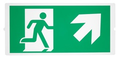 P-LIGHT Emergency , stairsigns for area light, zelena