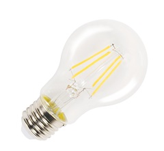 A60 Filament LED, E27, 2700K,470lm, dimmable